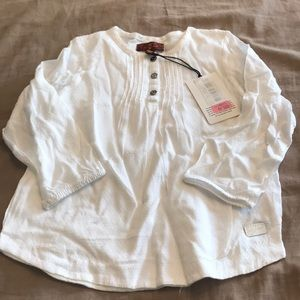 7 For All Mankind White LS Top